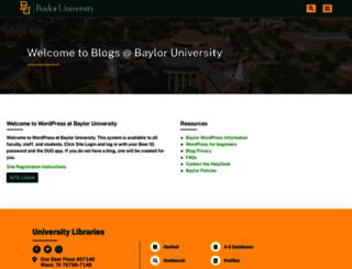 blogs.baylor.edu screenshot