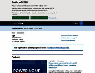 blogs.bis.gov.uk screenshot