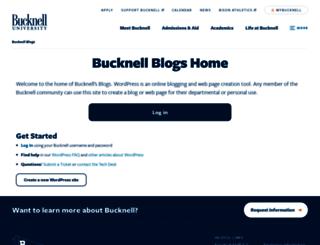 blogs.bucknell.edu screenshot