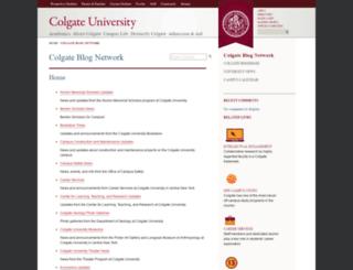 blogs.colgate.edu screenshot