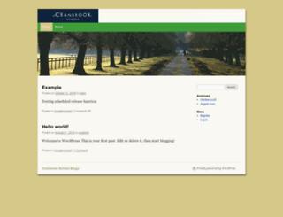blogs.cranbrook.edu screenshot