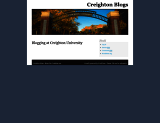 blogs.creighton.edu screenshot