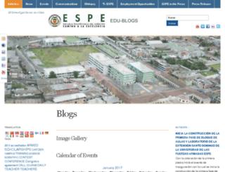 blogs.espe.edu.ec screenshot