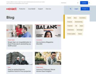 blogs.exact.com screenshot