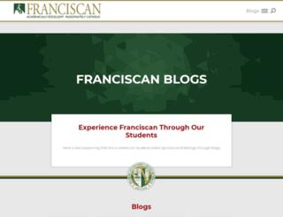 blogs.franciscan.edu screenshot