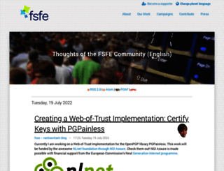 blogs.fsfe.org screenshot