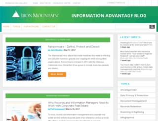 blogs.ironmountain.co.uk screenshot
