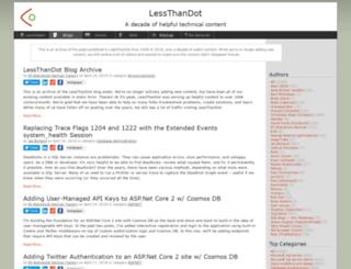 blogs.lessthandot.com screenshot
