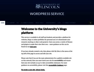blogs.lincoln.ac.uk screenshot