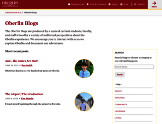 blogs.oberlin.edu screenshot