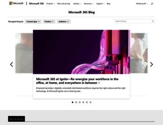 blogs.office.com screenshot