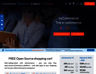 blogs.oscommerce.com screenshot