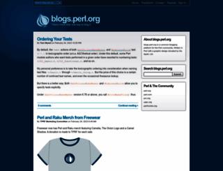 blogs.perl.org screenshot