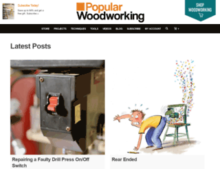 blogs.popularwoodworking.com screenshot