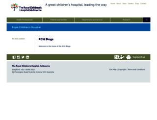 blogs.rch.org.au screenshot