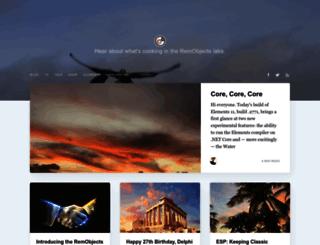 blogs.remobjects.com screenshot