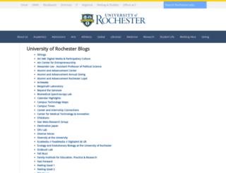 blogs.rochester.edu screenshot