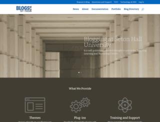blogs.shu.edu screenshot