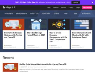 blogs.sitepoint.com screenshot