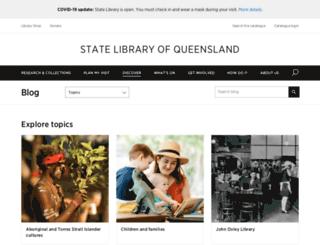 blogs.slq.qld.gov.au screenshot