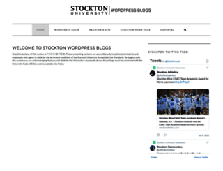 blogs.stockton.edu screenshot