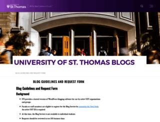 blogs.stthomas.edu screenshot