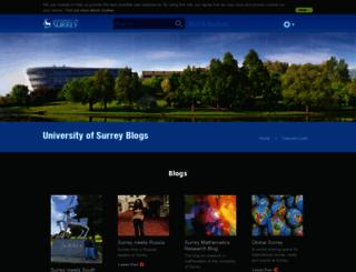 blogs.surrey.ac.uk screenshot
