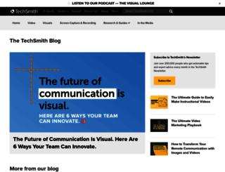 blogs.techsmith.com screenshot