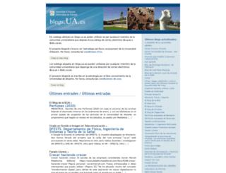 blogs.ua.es screenshot
