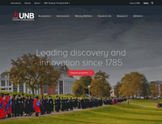 blogs.unb.ca screenshot