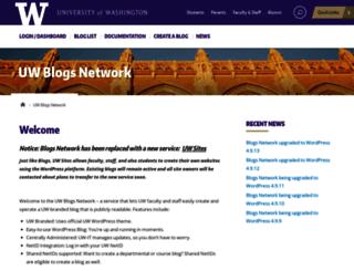 blogs.uw.edu screenshot