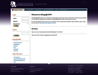 blogs.uww.edu screenshot