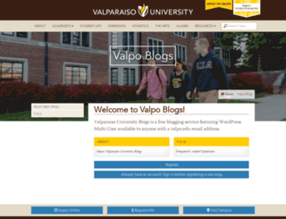 blogs.valpo.edu screenshot