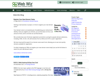 blogs.webwiz.co.uk screenshot