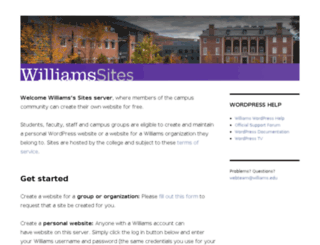 blogs.williams.edu screenshot