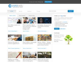 blogs.world.edu screenshot