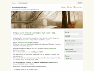 blogsgewinnspiel.wordpress.com screenshot