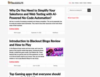 blogsolute.com screenshot