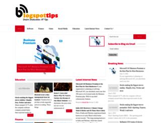 blogspottips.com screenshot
