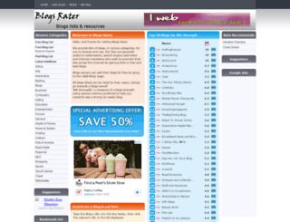 blogsrater.com screenshot
