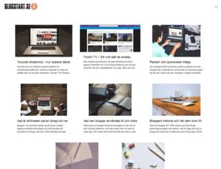 blogstart.se screenshot