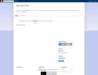 blogtheproway.blogspot.com screenshot