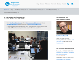 blogtrainer.de screenshot