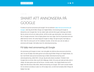 blogvertiser.se screenshot