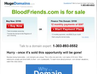 bloodfriends.com screenshot