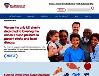 bloodpressureuk.org screenshot