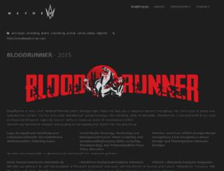 bloodrunner.com screenshot