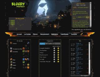 bloodyprophecy.fr screenshot