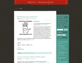 bloodyshow.wordpress.com screenshot