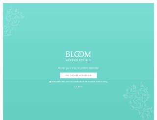 bloomgin.com screenshot